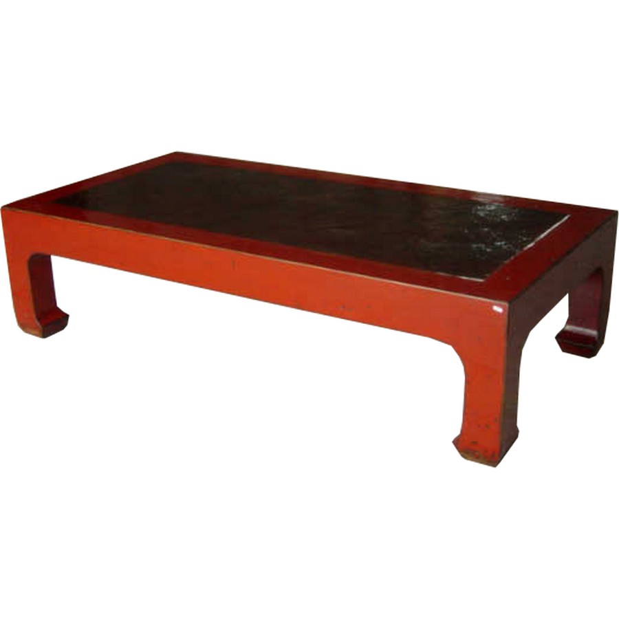 B M Rattan Coffee Table: Rectangular Coffee Table With Rattan Top