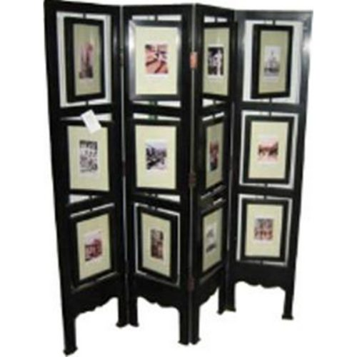 Room Divider With Picture Frames - Asian Loft