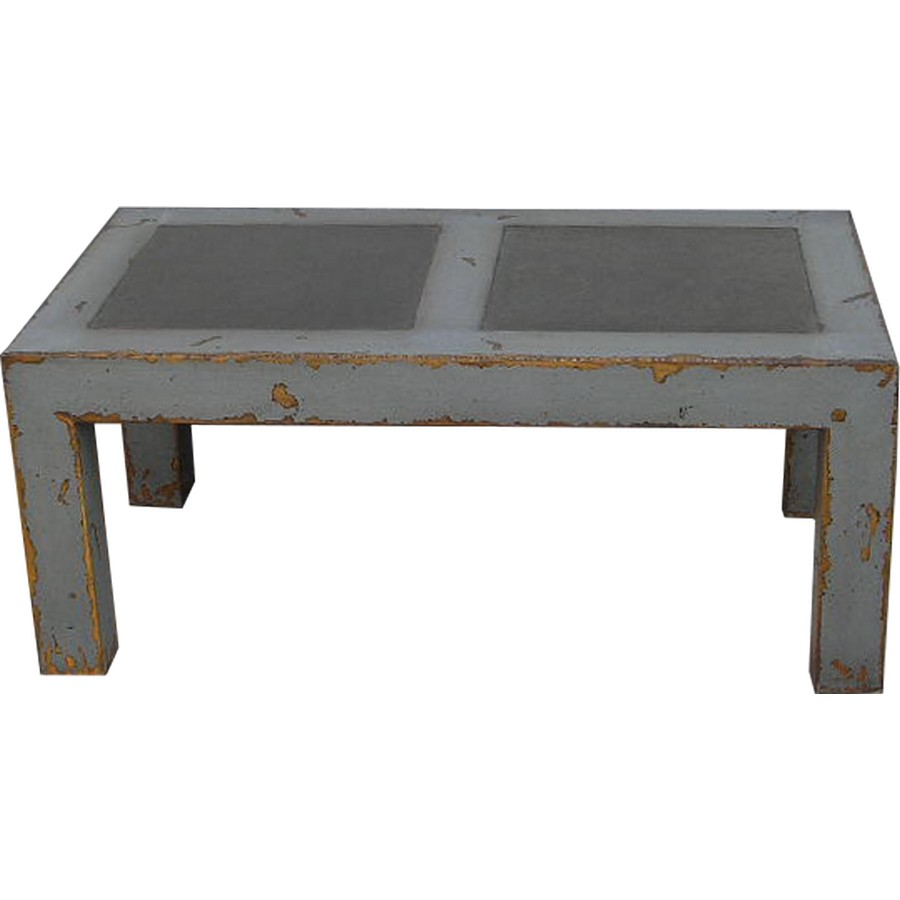 Rectangular coffee table with stone top asian loft Stone top coffee table