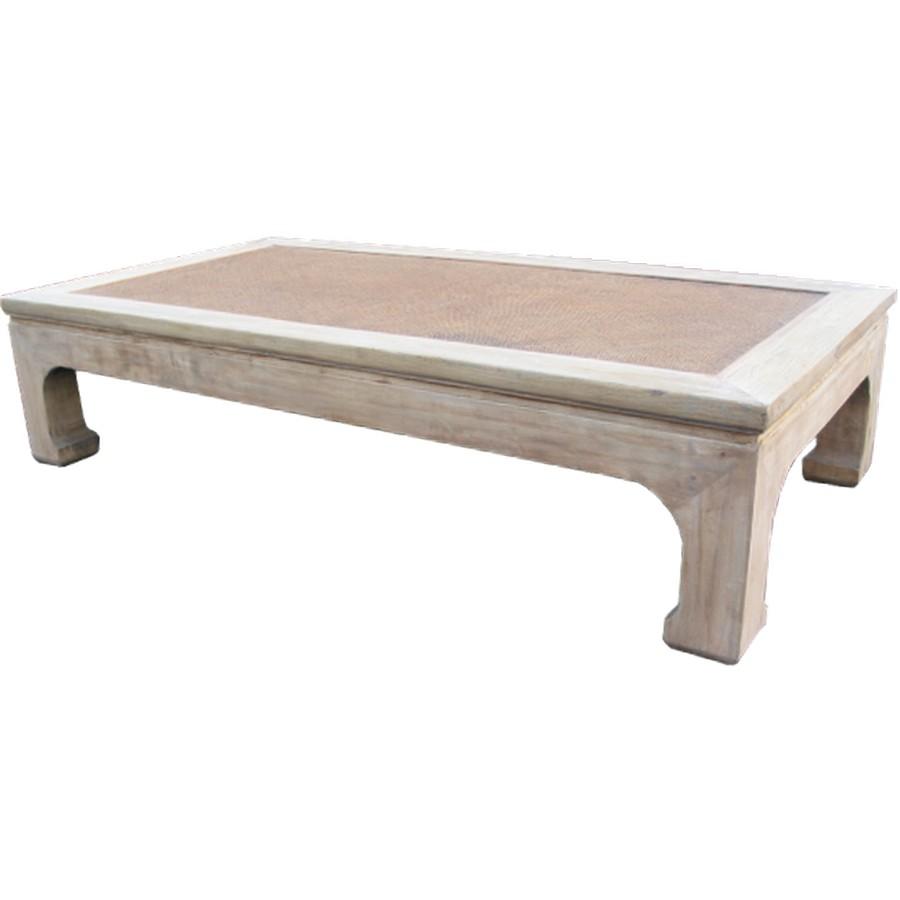 B M Rattan Coffee Table: Coffee Table With Rattan Top